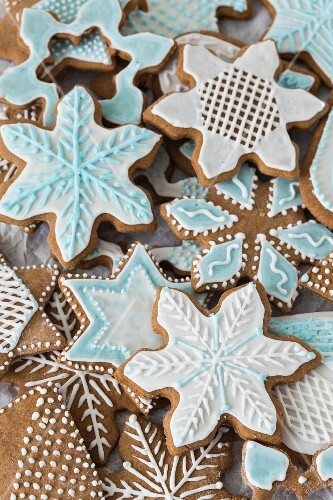 Spiced biscuits decorated with icing