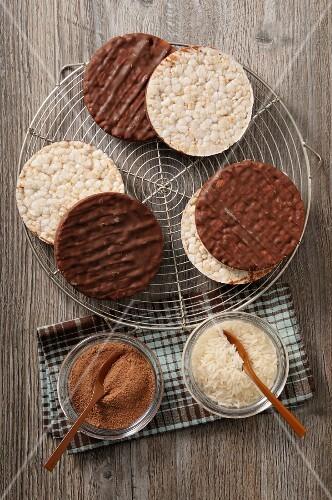 Chocolate rice waffles (seen above)