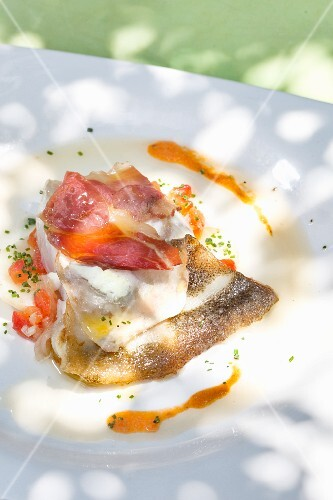 Catalan-style turbot with ham, Hotel Restaurant Ca La Manyana