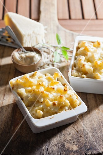Macaroni and cheese flavoured with truffles