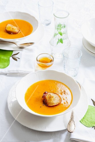 Pumpkin and apple soup