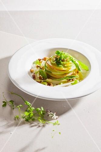 Waldorf salad with turnips