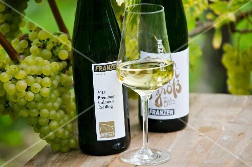 Wine from the Franzen vineyard, Bremm, Rhineland Palatinate, Germany
