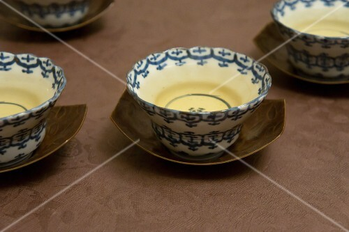 Green tea in traditional porcelain bowls (Japan)
