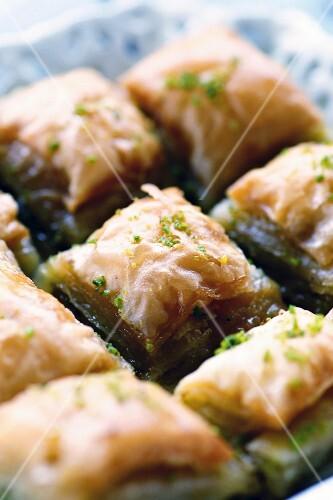 Pistachio baklava