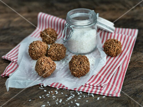 Homemade spice and coconut bites