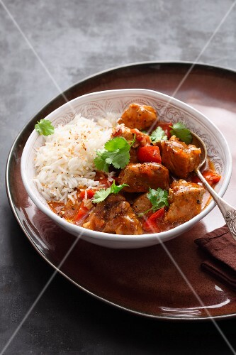 Indian vindaloo with pork