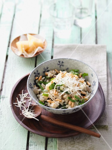 Chard risotto with fresh borage