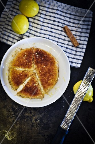 Kanafeh with lemon and cinnamon (Arabian)