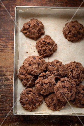 Buckwheat chocolate biscuits