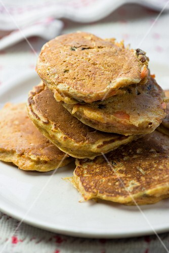 Drop scones with carrots and raisins