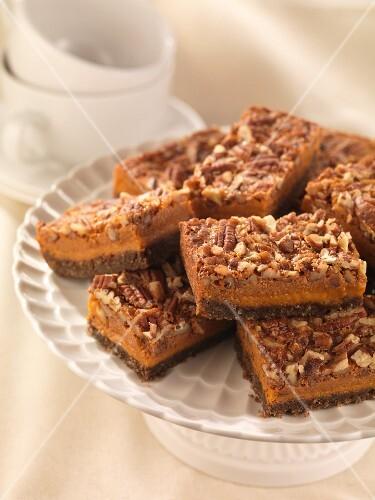 Pumpkin and pecan nut slices