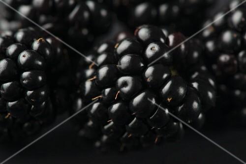 Fresh Blackberries; Close Up