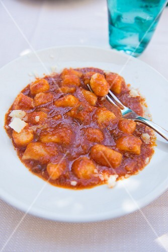 Gnocchi Amatriciana with tomato sauce