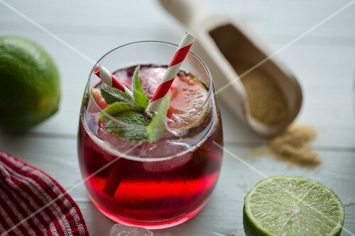 Belgian cherry berry with lime, mint and brown sugar