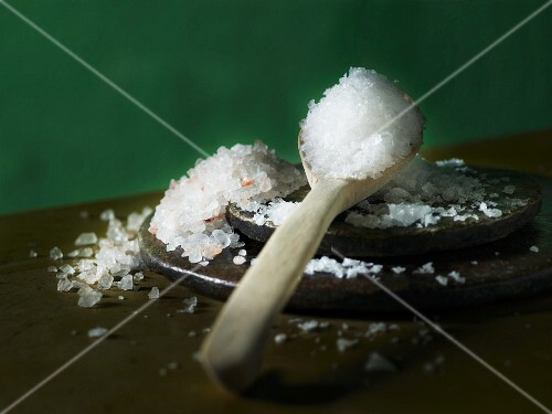 Salt on a stone platter