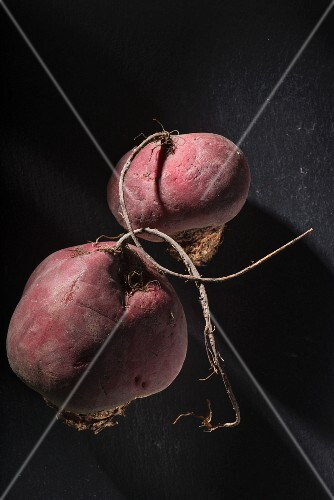 Beetroots on a dark surface