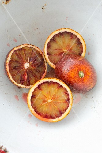 Juicy blood oranges
