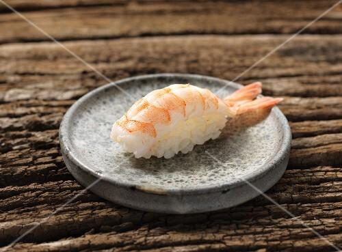 Nigiri sushi with prawn