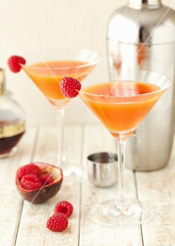 Passion fruit and raspberry Martini