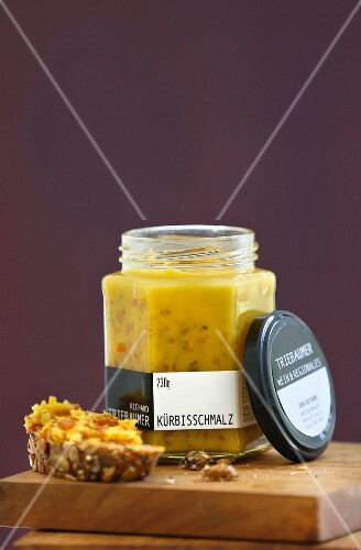 A jar of pumpkin lard by Richard Triebaumer (Austria)