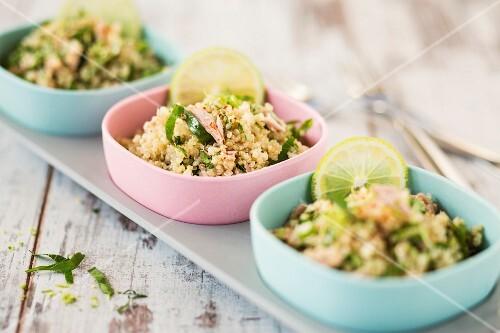 Quinoa tabbouleh with tuna