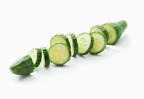 A sliced cucumber