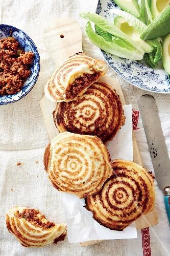 Cheesy minced meat jaffles