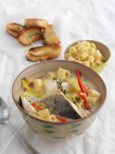Zuppa di pesce alla genovese (Italian fish soup)