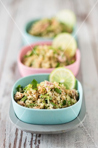 Quinoa tabbouleh with tuna fish