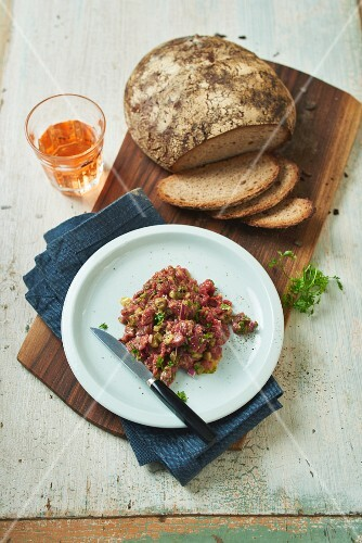 Classic beef tatar with brown bread