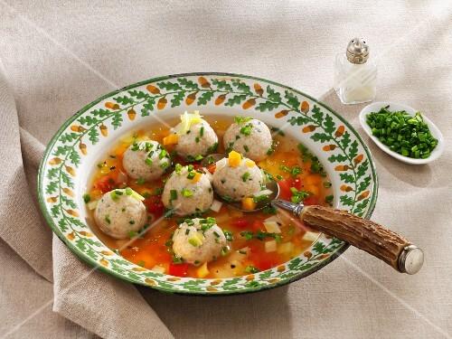 Spelt dumpling soup