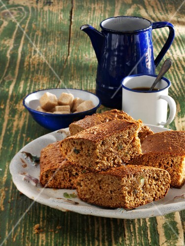 Homemade gingerbread tray bake made with spelt wholemeal flour