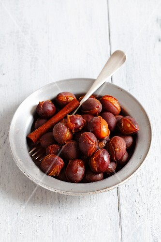 Plums in vinegar