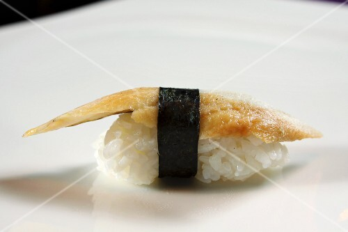 A nigiri sushi with fish