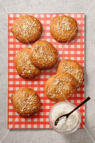 Nut and coconut biscuits