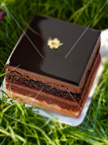 Opera cake (Frence chocolate cake)
