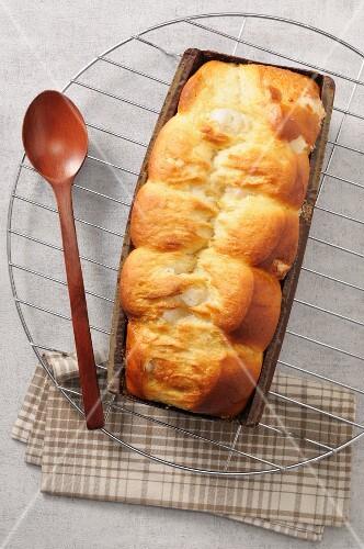 Brioche in a loaf tin