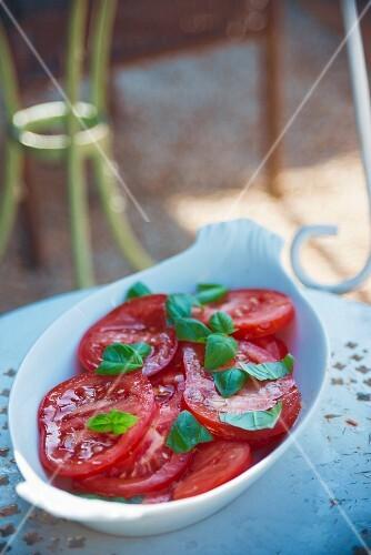 Tomato salad with basil