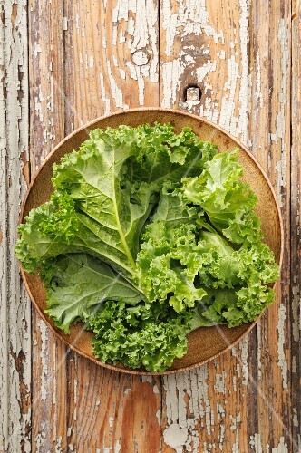 Fresh green cabbage on a plate