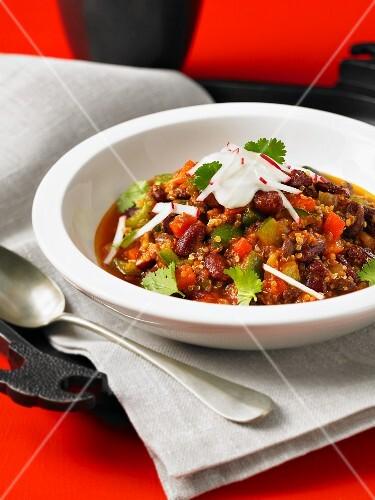 Vegetarian quinoa chilli