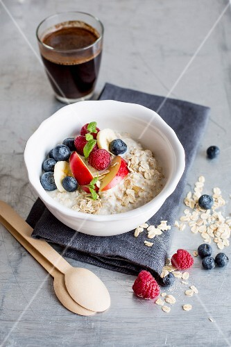 Muesli made with oats, buttermilk and fruit