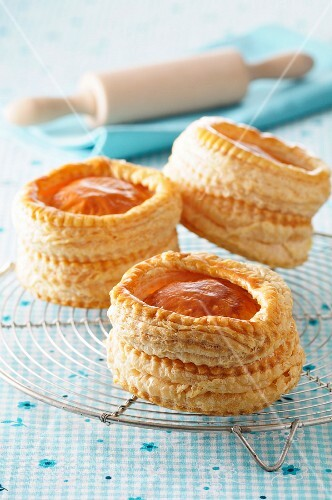 Vol-au-vents on a wire rack