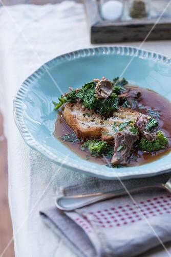 Coda in Brodo (ox tail soup, Italy)