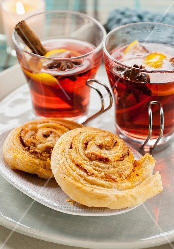 Cheese whirls and fruit punch