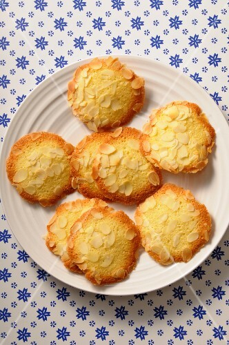 Tuiles with flaked almonds