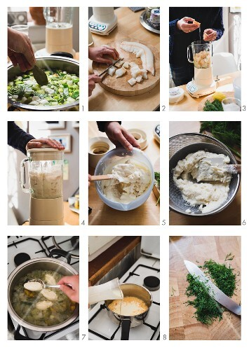 Making pike dumplings