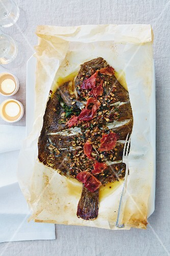 Turbot in parchment paper