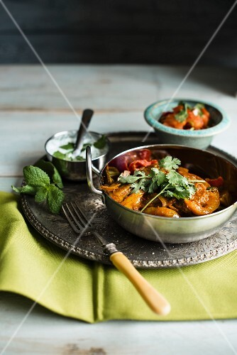 Chicken curry with yoghurt sauce (India)