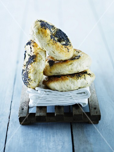 Four poppyseed bagels